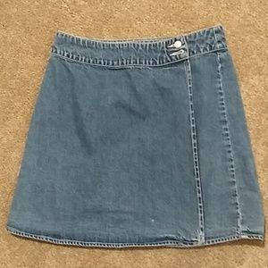 GAP Denim Wrap Skirt